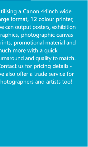 MSL Graphics - Printing and posters - photographic prints, canvas prints, promotional material, trade service, photographers and artists